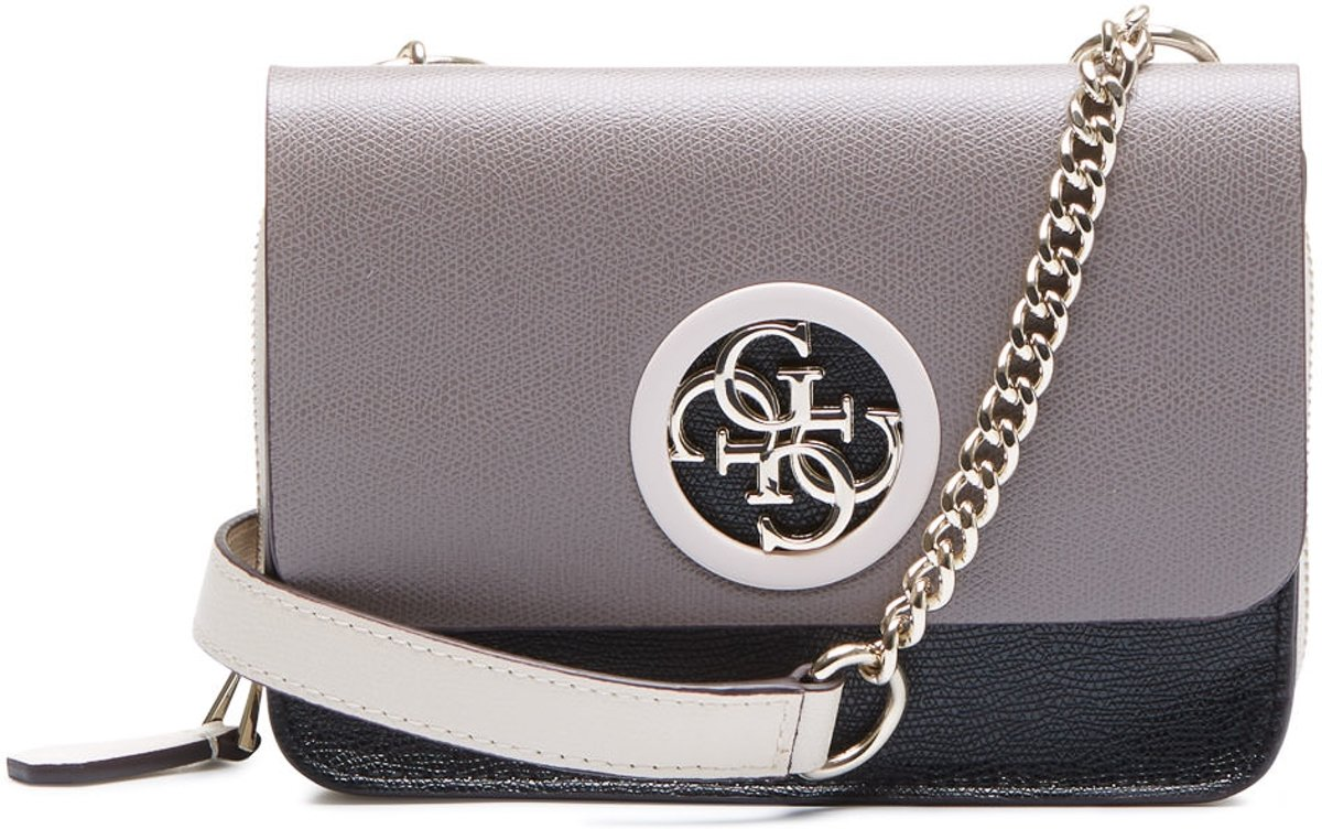 | GUESS Open Road Mini Flap Taupe Multi Crossbody