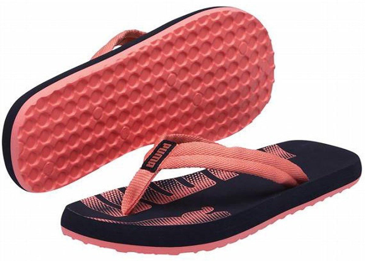 | Puma Epic Flip Slippers Dames Zwartroze Maat 40.5