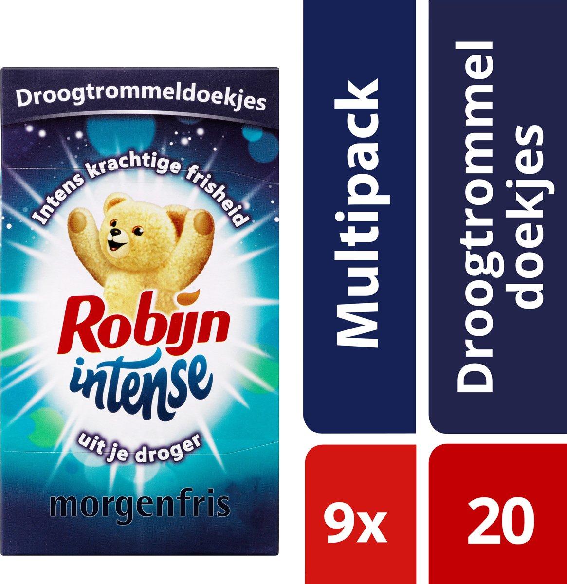 Robijn Intense Droogtrommeldoekjes - 9 x 20 stuks - Voordeelverpakking kopen
