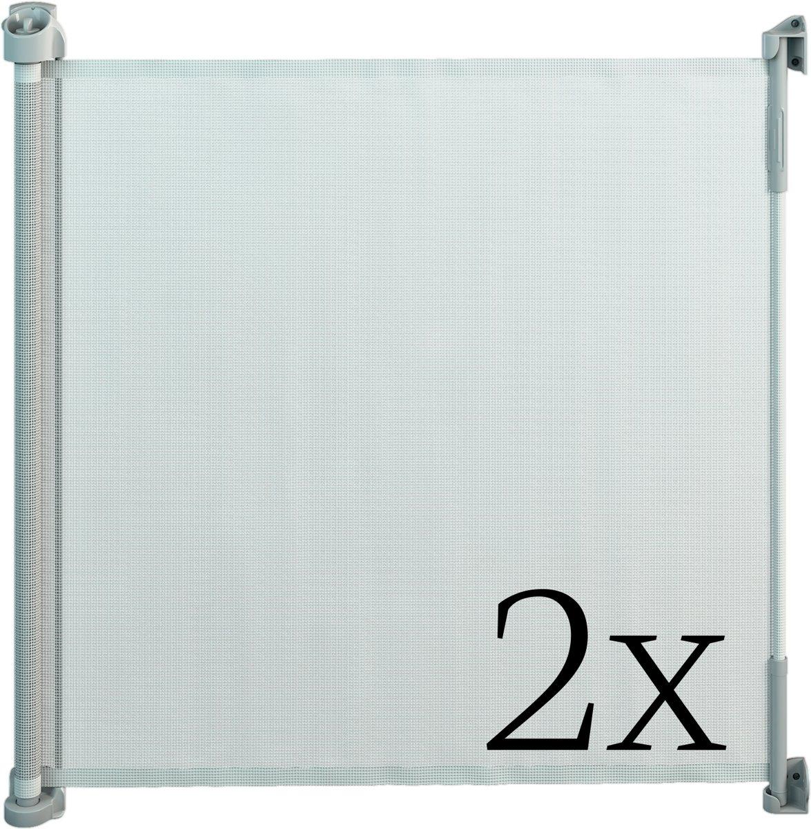 Gaterol Active Lite Wit dubbelverpakking –  Twee uittrekbare trap- en deurhekjes Rollo, tot 140 cm