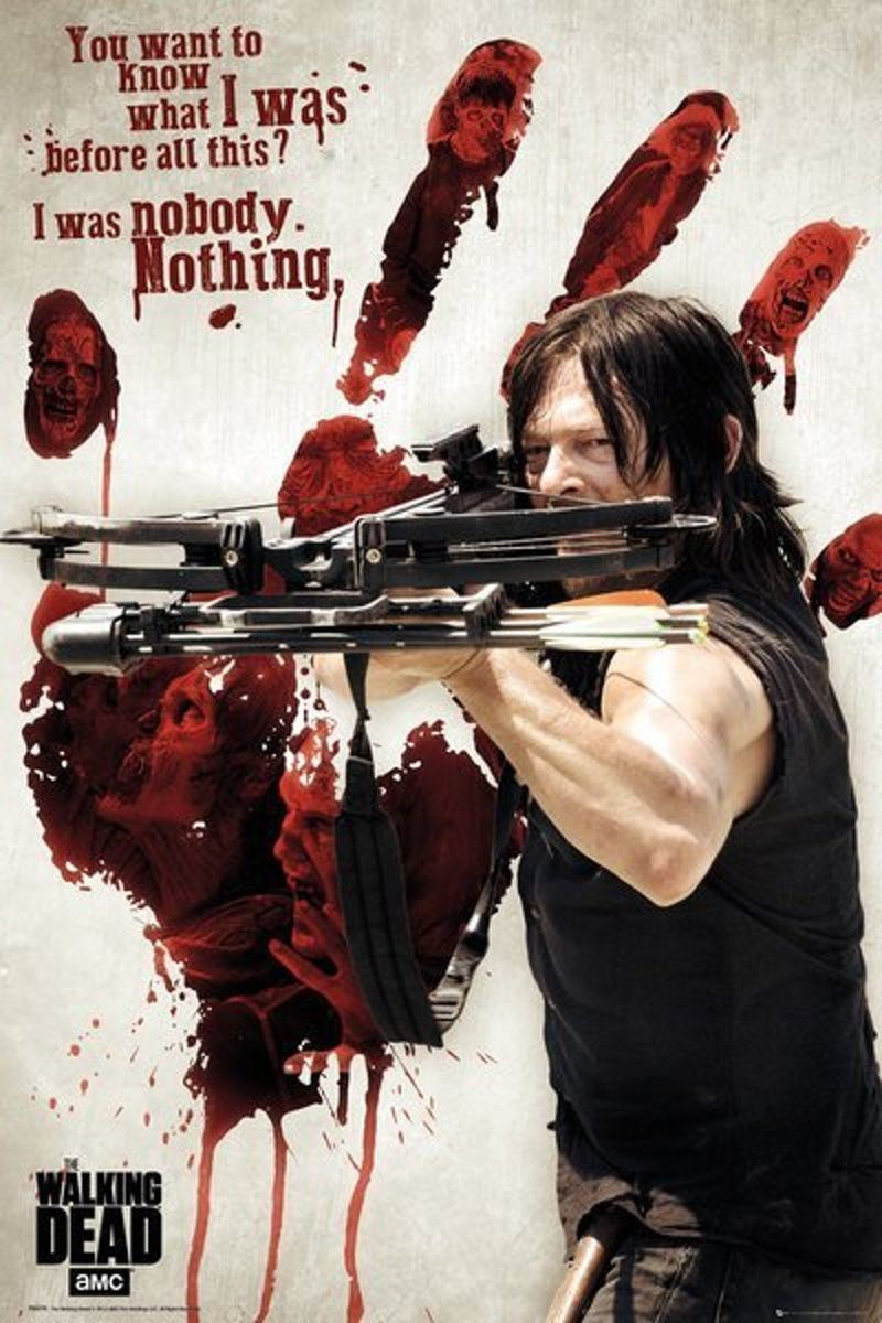 The Walking Dead Daryl Bloody Hand - Maxi Poster kopen