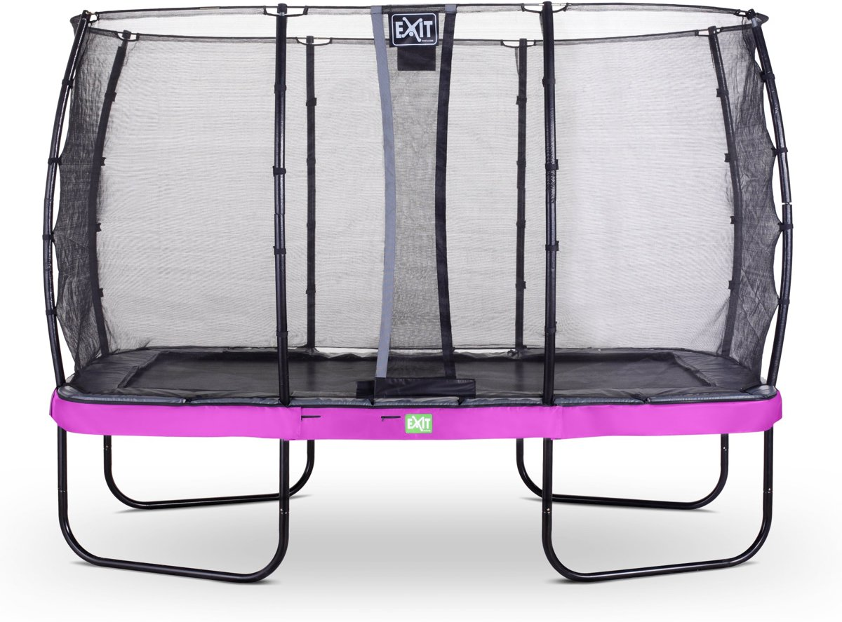 EXIT Elegant Premium trampoline 244x427cm met veiligheidsnet Deluxe - paars