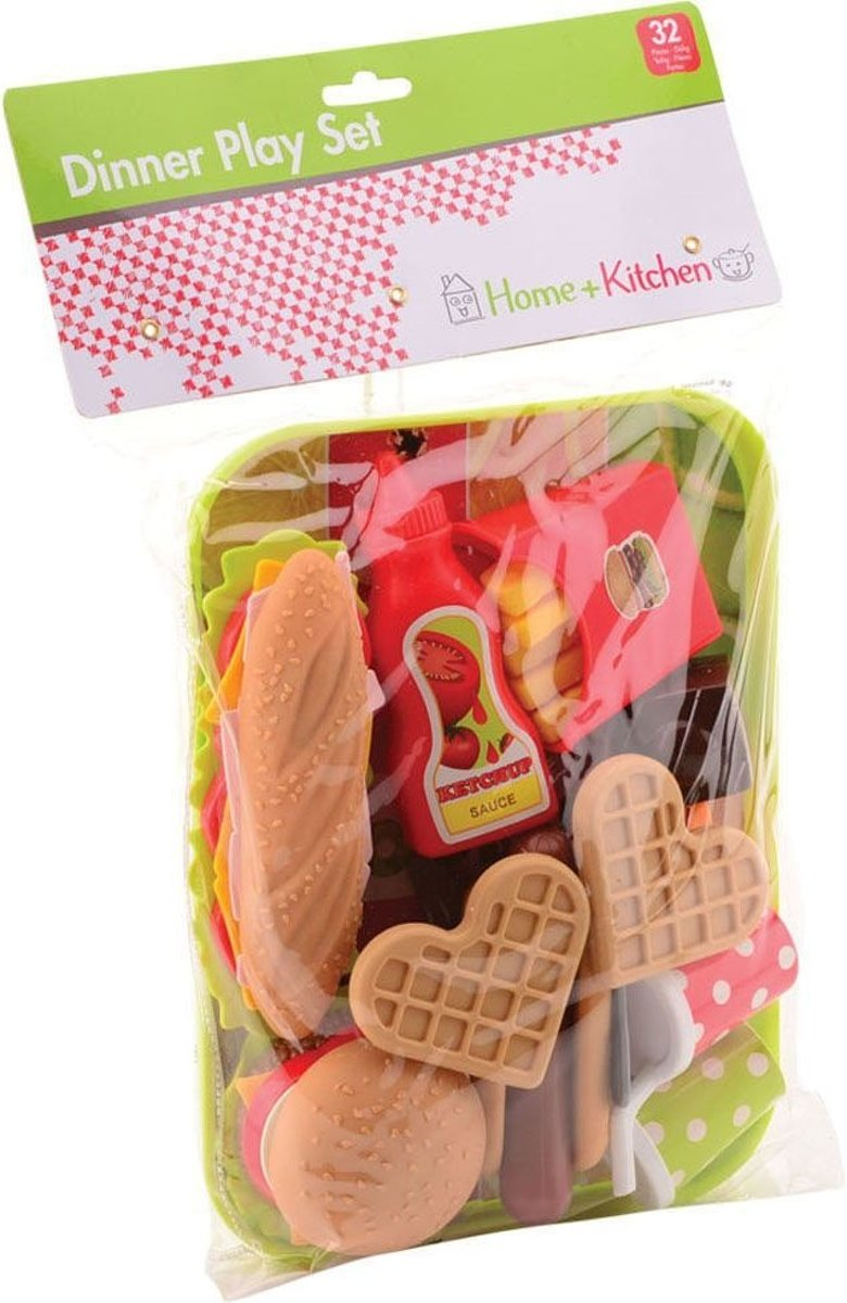 Home And Kitchen Home And Kitchen Fastfood Met Dienblad In Zak