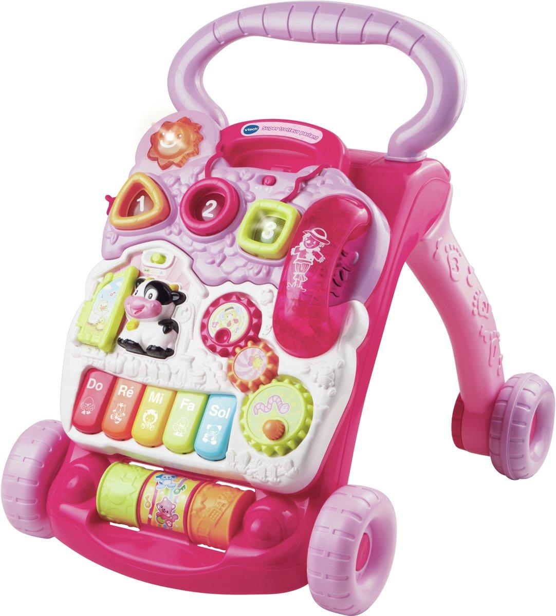 VTech Super babywalker met activiteicenter Rose educatief speelgoed( franstalig)