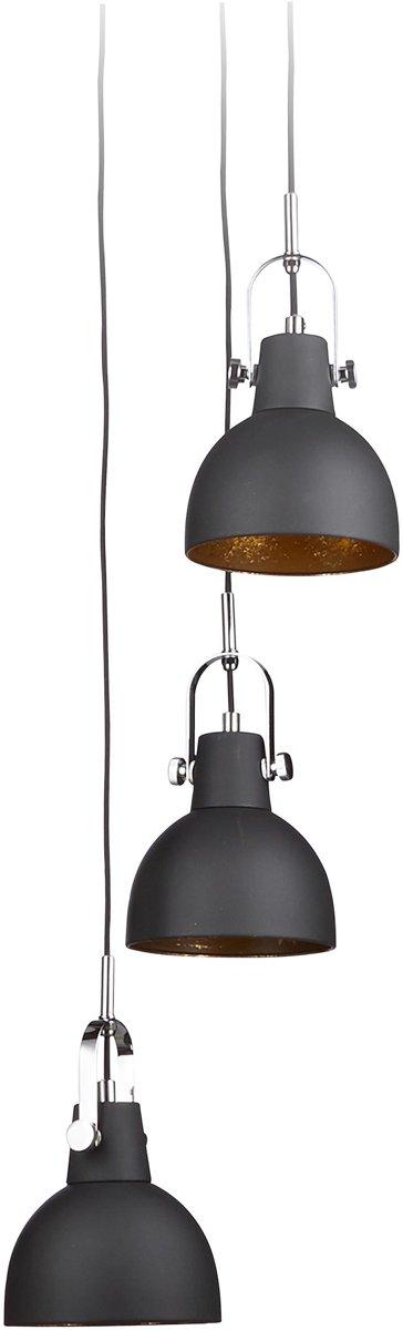 Bol Com Relaxdays Hanglamp Industrieel 3 Lampenkappen