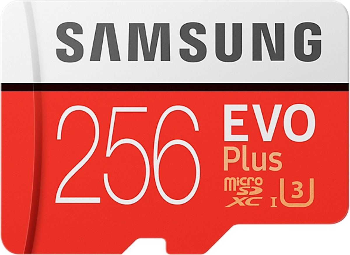 Samsung Evo plus Micro SD 256GB - met adapter voor €64,92