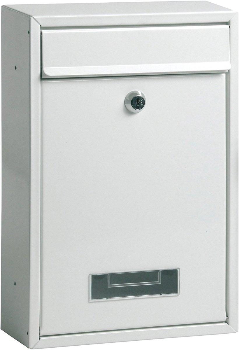 Maxx Brievenbus - Hangend model 2 sleutels wit - 22 x 32 x 9cm