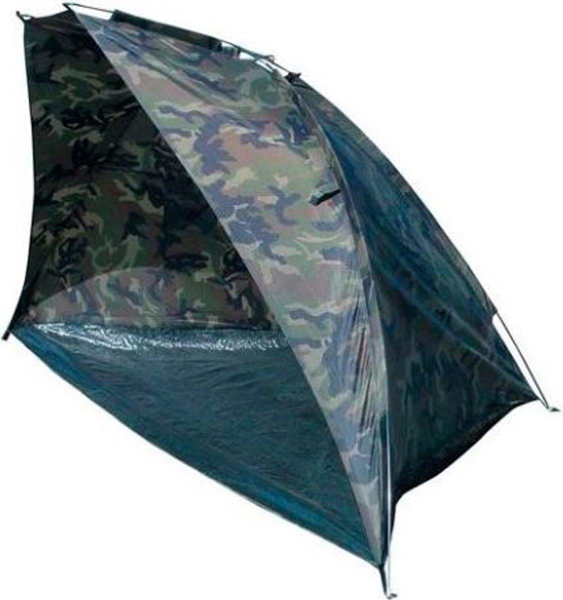 Abbey Camp Strandtent - Polyester - Camouflageprint - Legergroen kopen