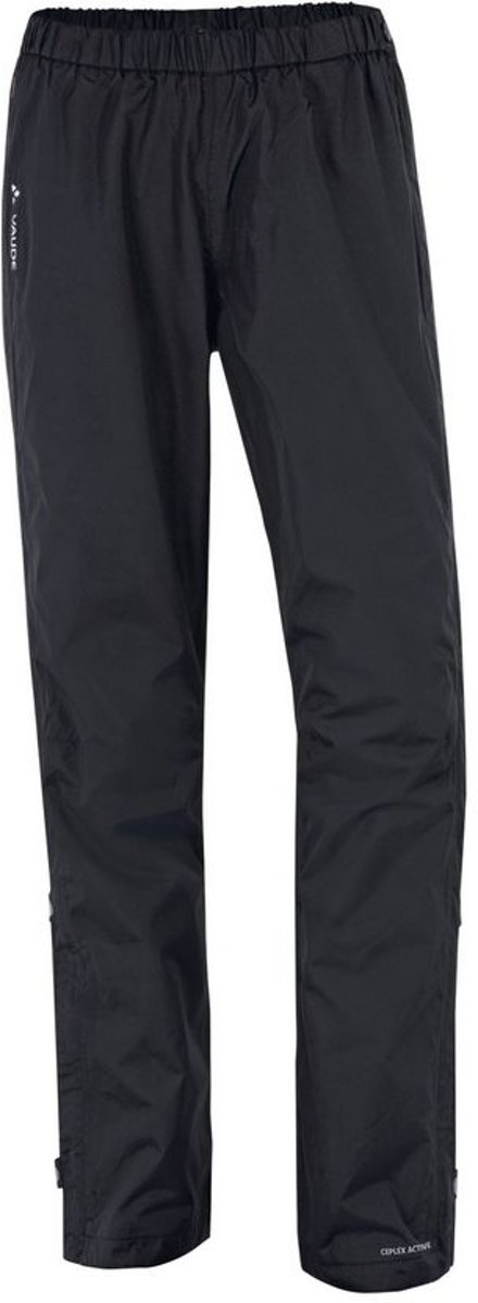 Vaude Fluid Full Zip Pants Regenbroek Dames - Black kopen