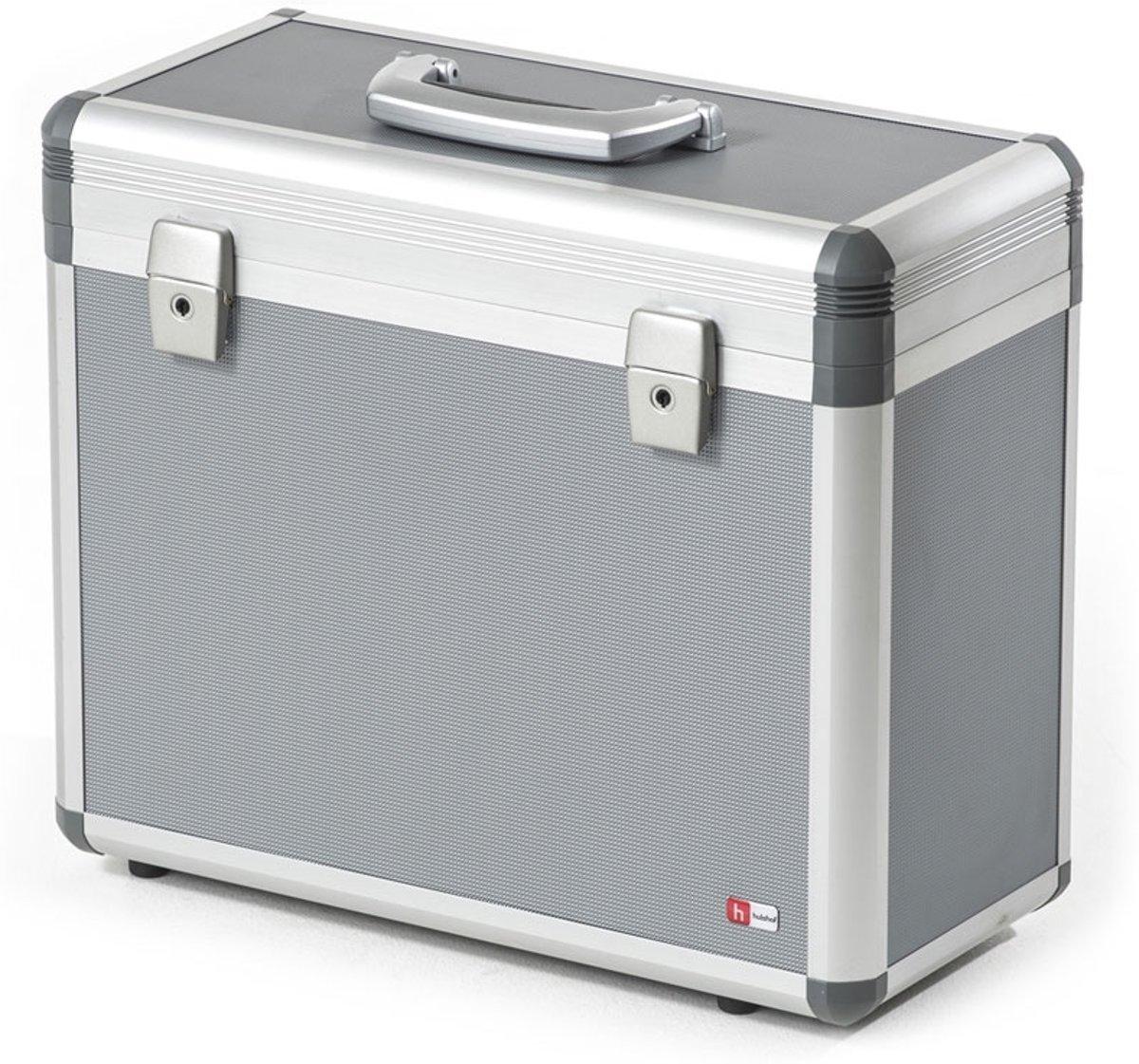 Hulshof Projector/Beamer Koffer Basic, Stevige transportkoffer voor beamer of projector en laptop, inclusief verdeelschot en bufferingen kopen