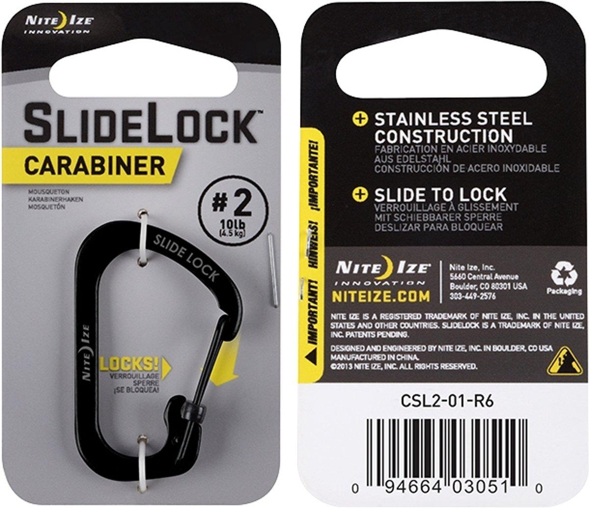 NITE IZE SlideLock Carabiner #2 - Black