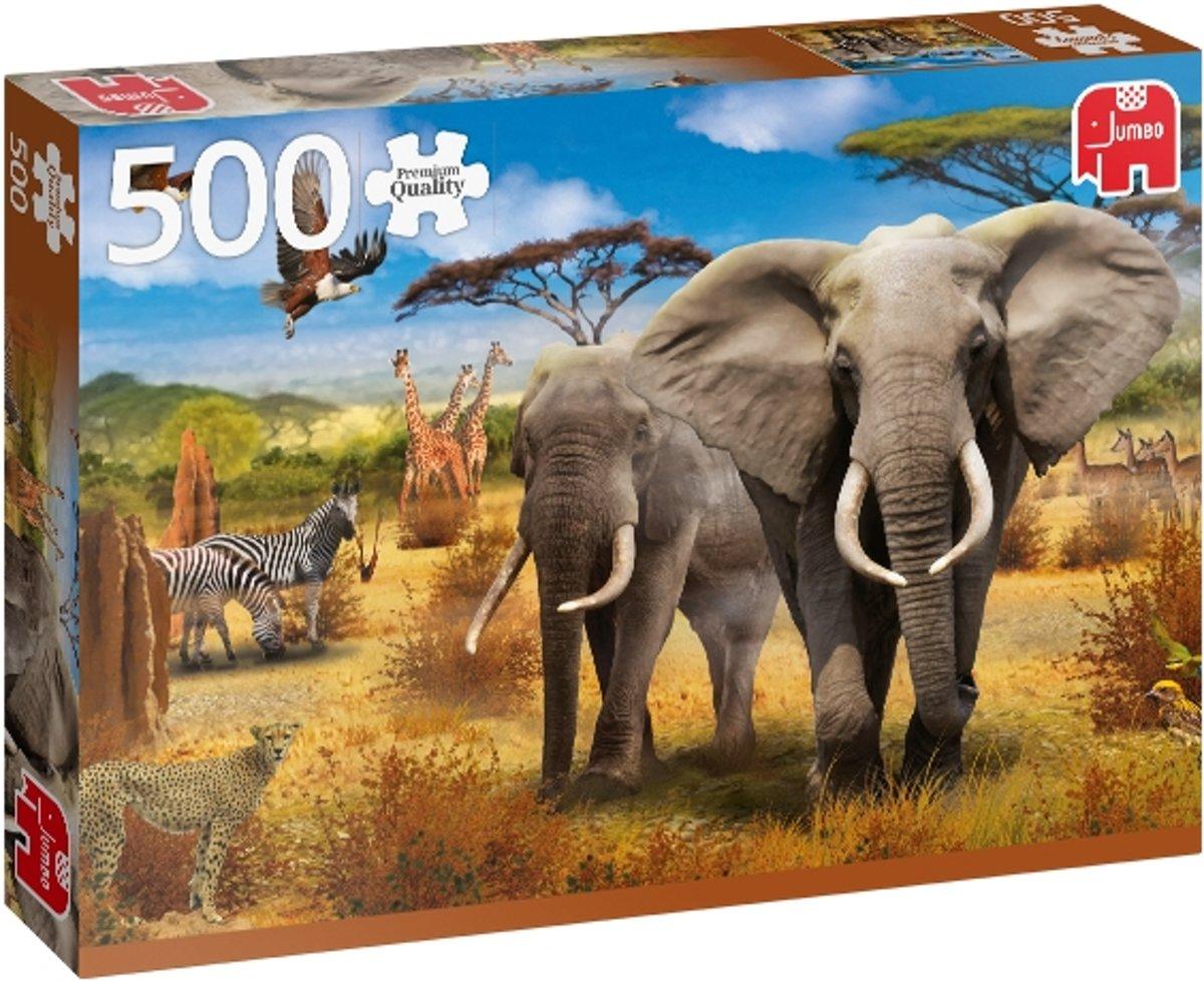African Savannah Premium Collection Puzzel 500 Stukjes