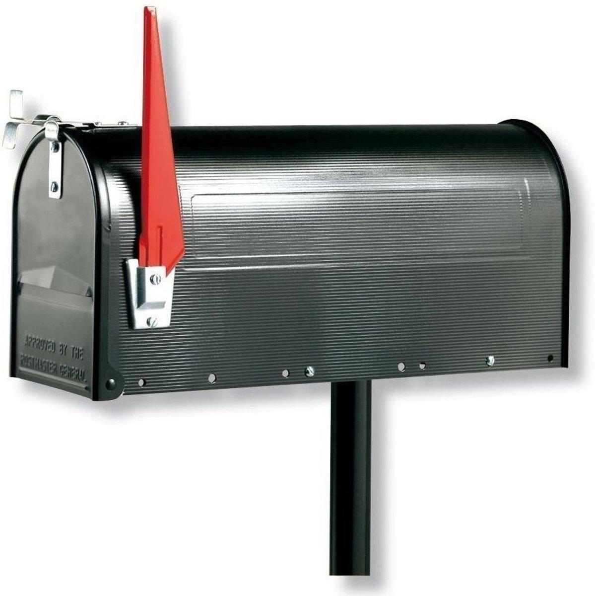 Burg Wachter US mailbox Zwart (exclusief paal)