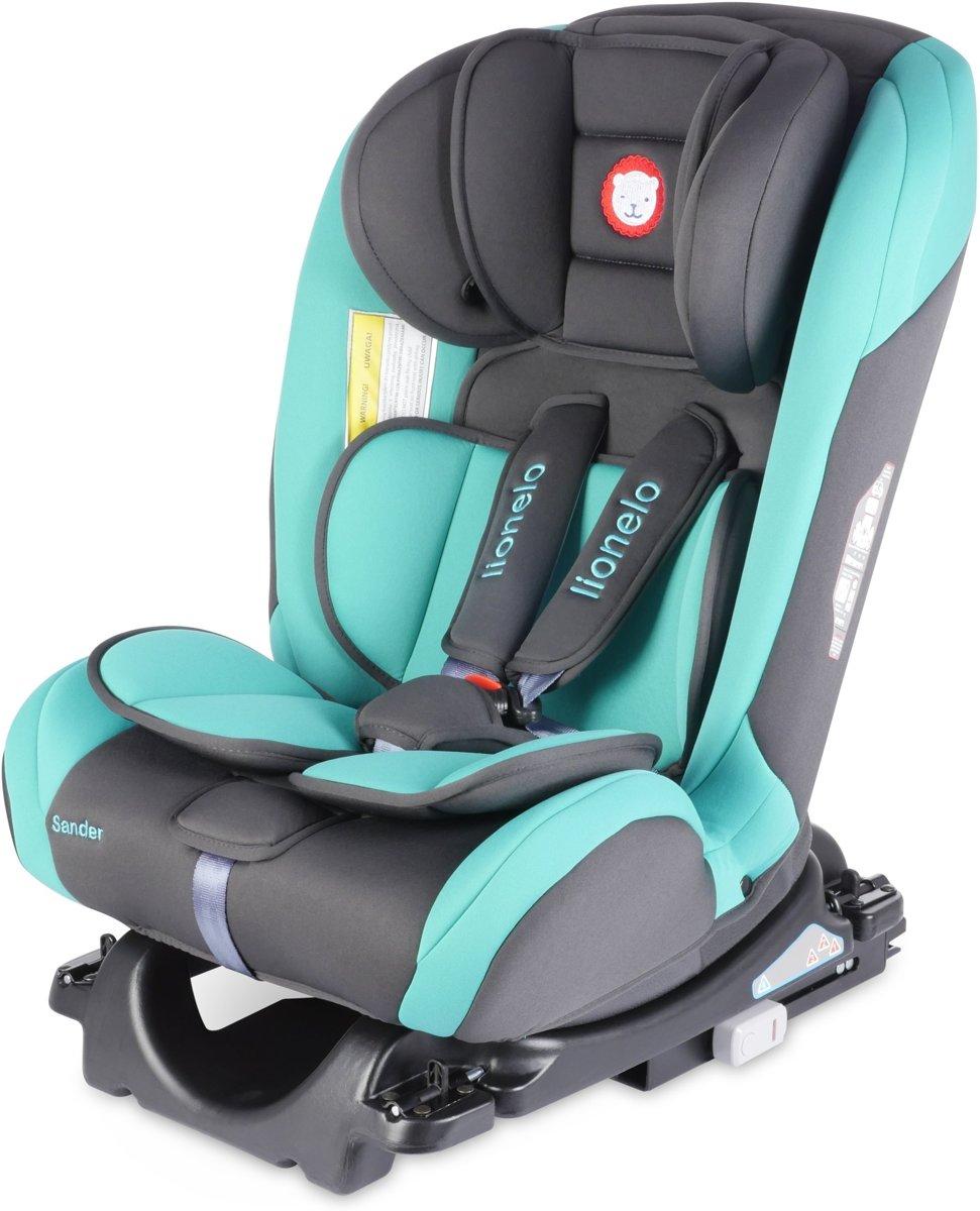 Lionelo Sander -  Autostoel 0-36kg Isofix ( (voorwaarts en achterwaarts te plaatsen) toptether met ligstand turquoise