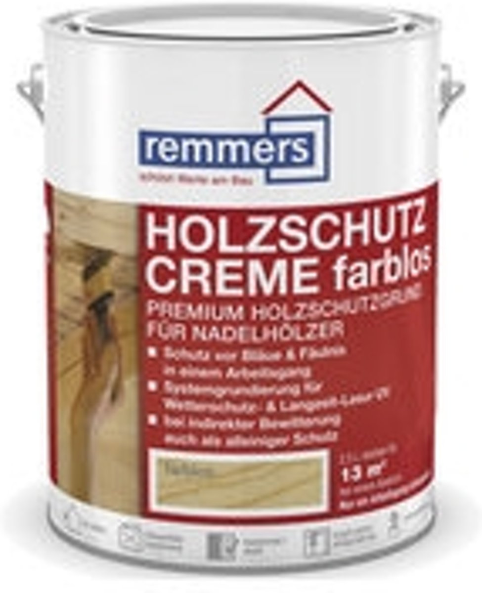 Remmers Houtbeschermingscreme kleurloos 2,5 liter