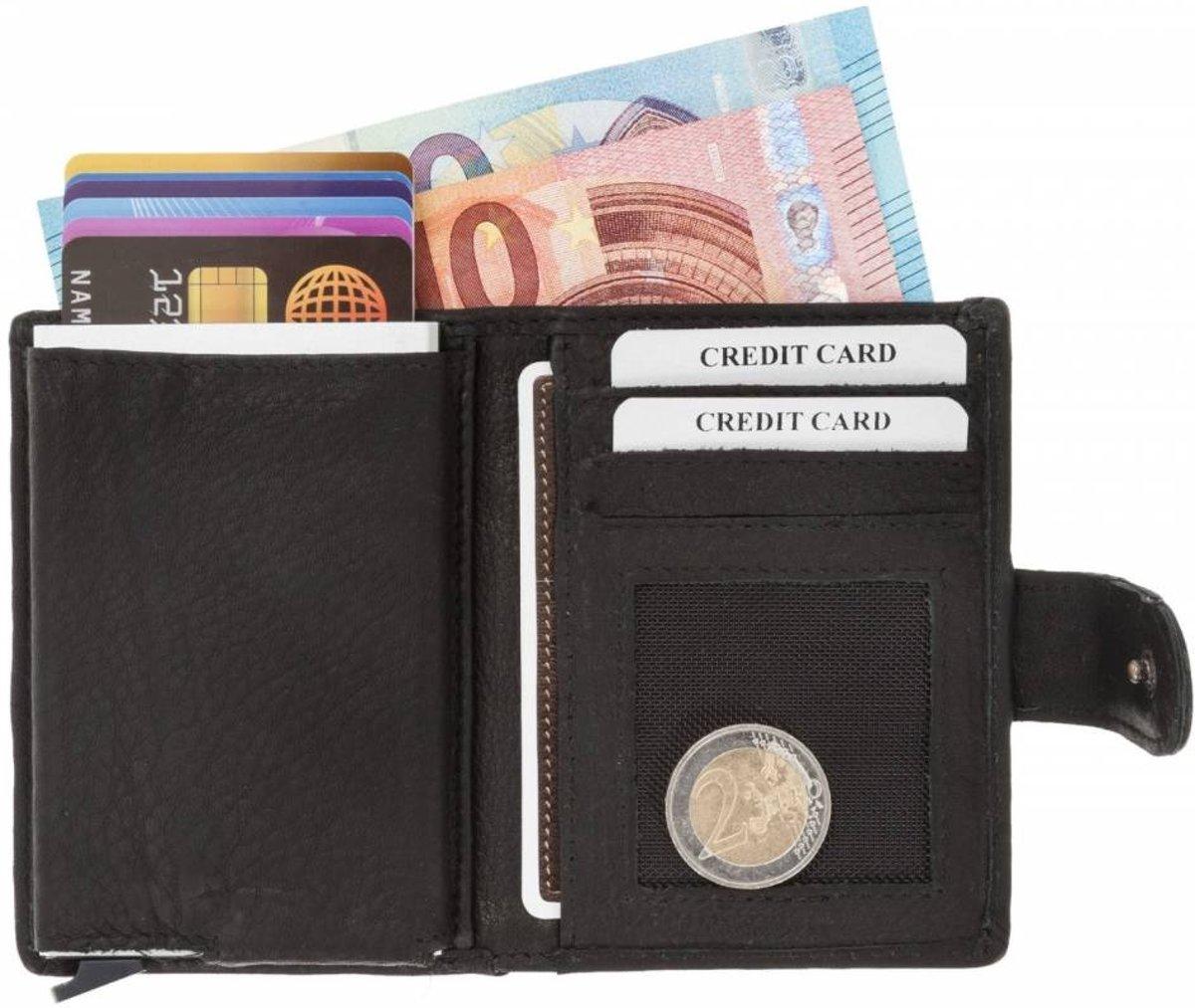 6ac4e81e5cf bol.com | Figuretta RFID Card Protector Creditcardhouder - Leer - Zwart