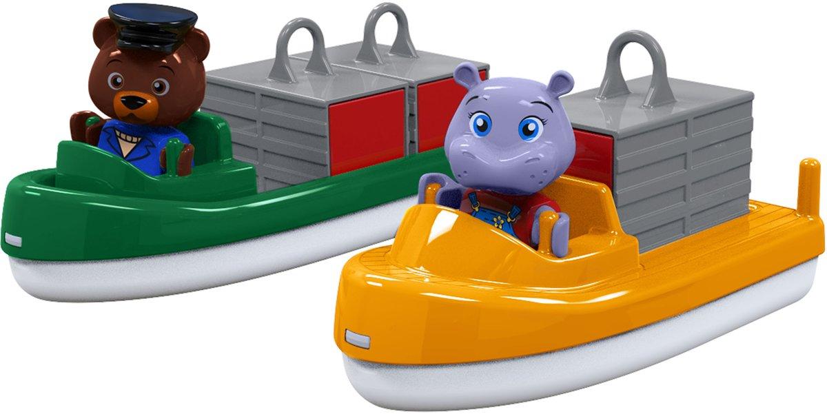 AquaPlay Vracht- en Containerboot met 2 Speelfiguren 255