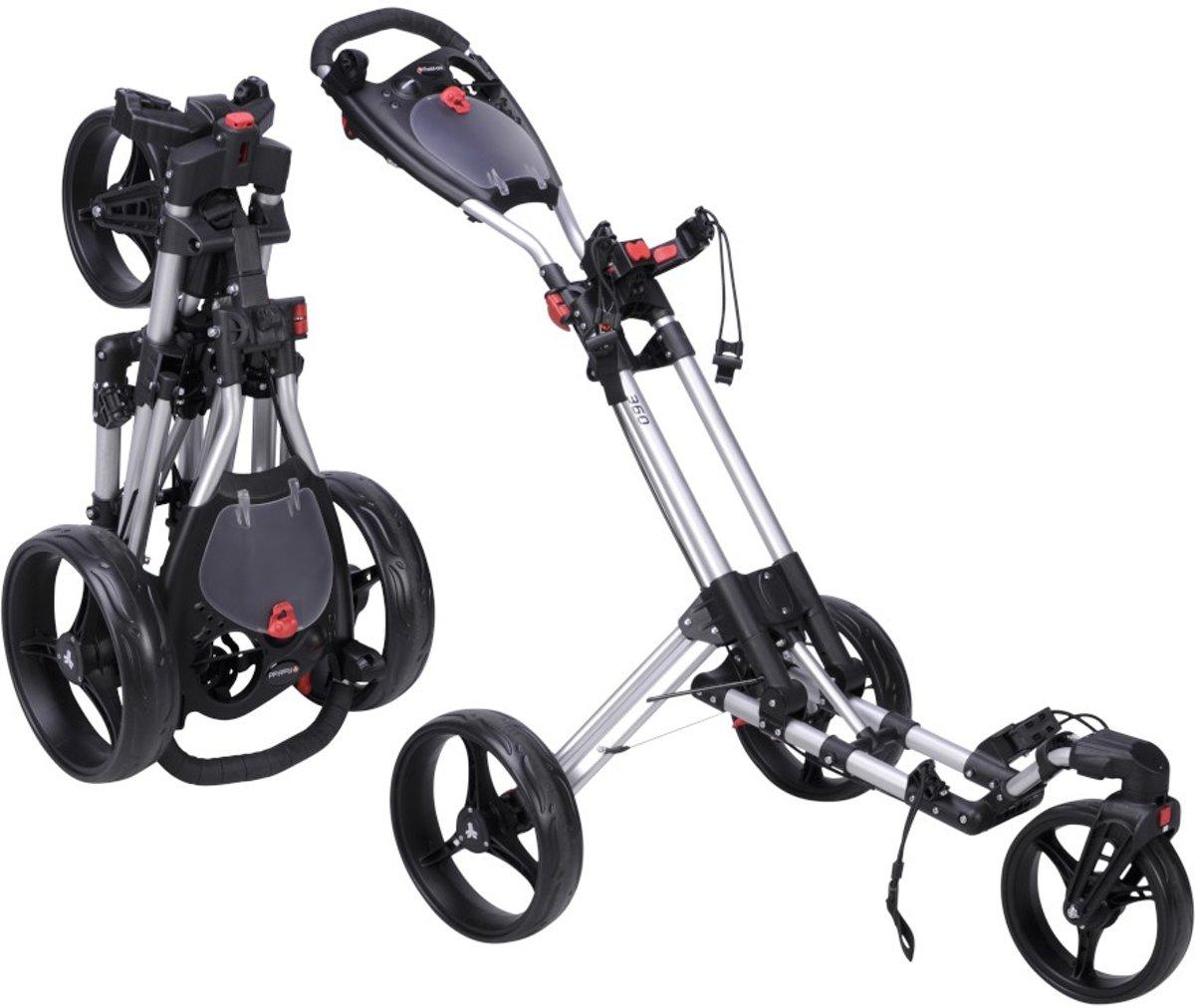 FastFold - 360 golftrolley - zilver/zwart kopen