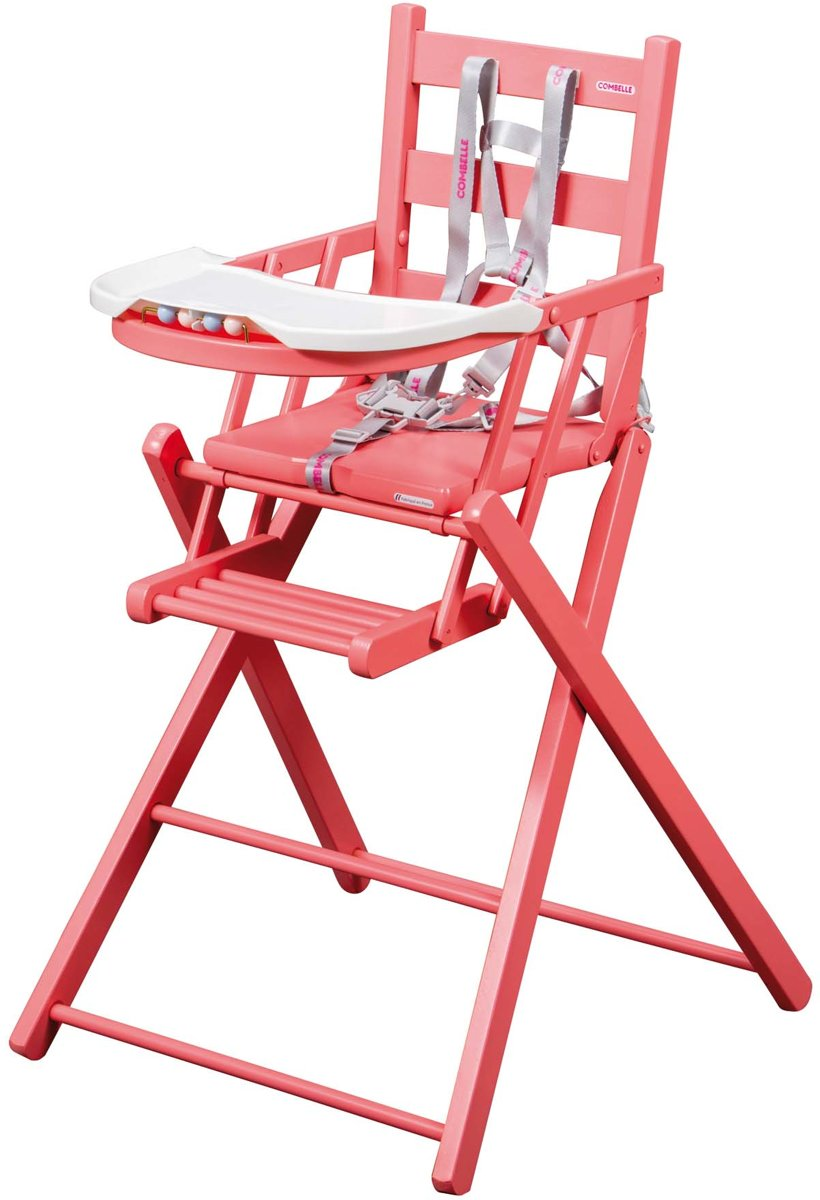 Combelle - Inklapbare houten kinderstoel - roze