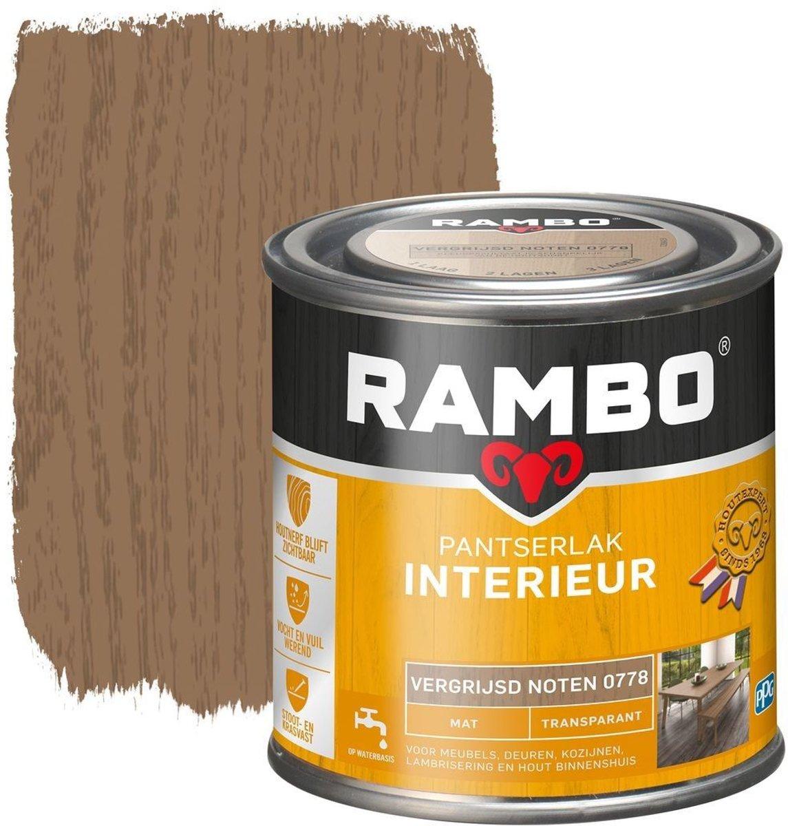Rambo Pantserlak Interieur Transparant Mat Vergr.noten 0778-0,75 Ltr