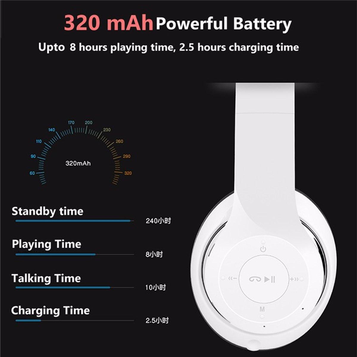 Lovnix P47 Bluetooth Koptelefoon Draadloze Headset Headphone Wireless Beats Headphones Wit