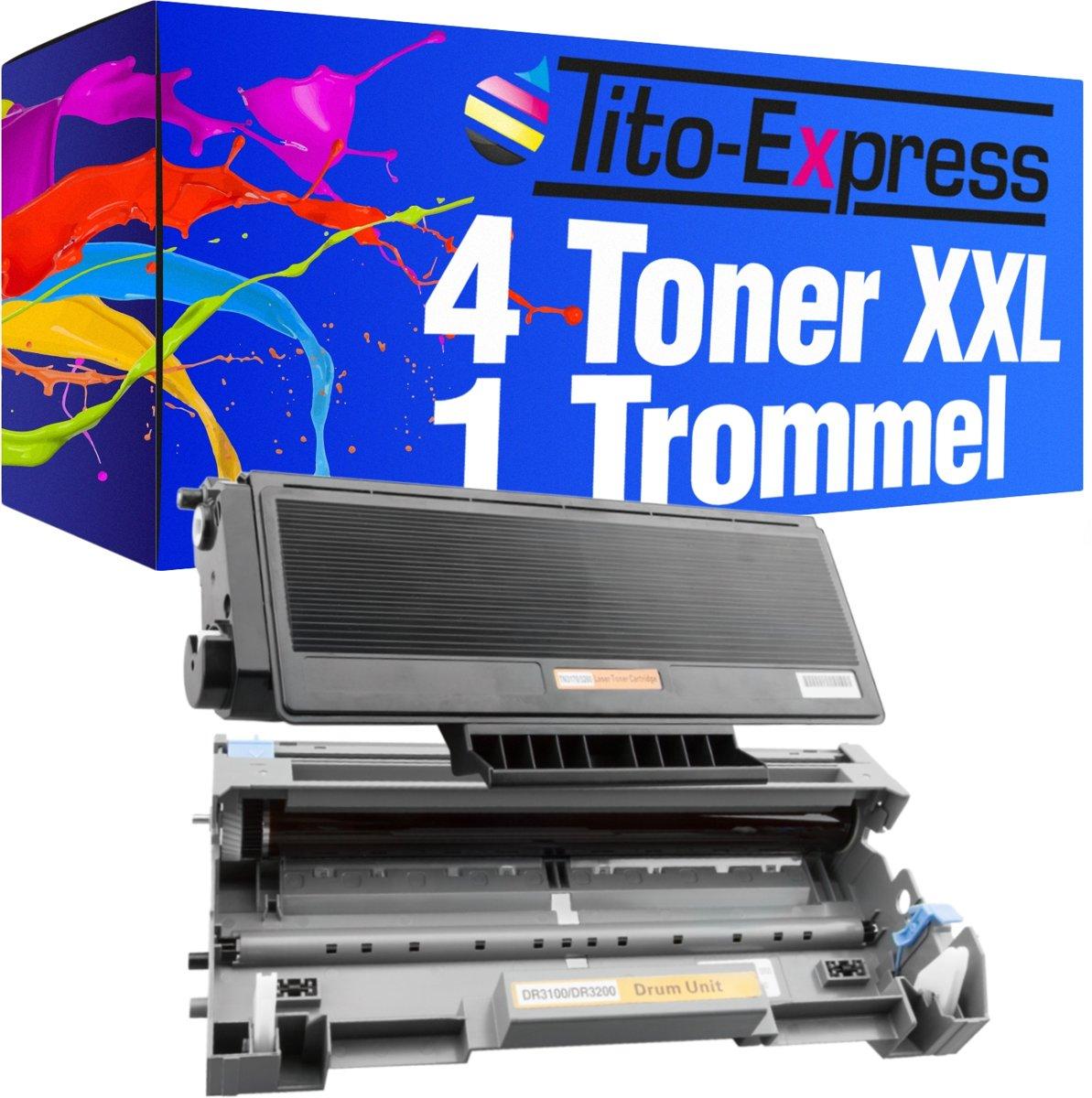 Tito-Express PlatinumSerie PlatinumSerie® 4 x toner & drum XXL zwart compatibel brother TN 3170 & DR3100 DCP-8060 / DCP-8065DN / HL-5200 / HL-5240 / HL-5240DN / HL-5240DNLT / HL-5240L / HL-5250DN / HL-5250DNHY / HL-5250DNLT / HL-5270DN / HL-5270DNLT kopen