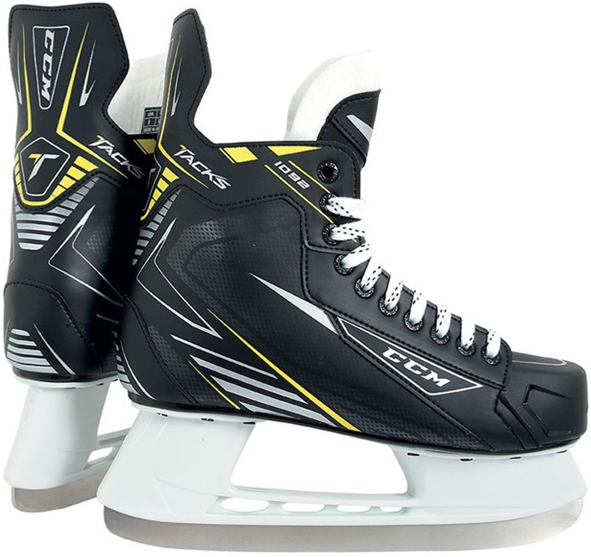 Ccm Ijshockeyschaatsen Tacks 1092 Unisex Zwart Maat 47