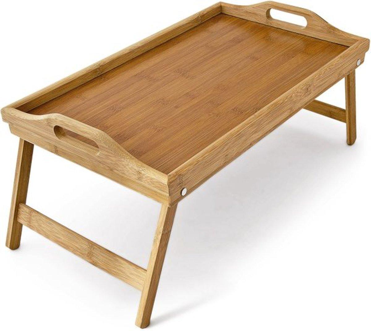 Relaxwonen Dienblad - Ontbijt op bed - Bamboe hout 50x30cm kopen