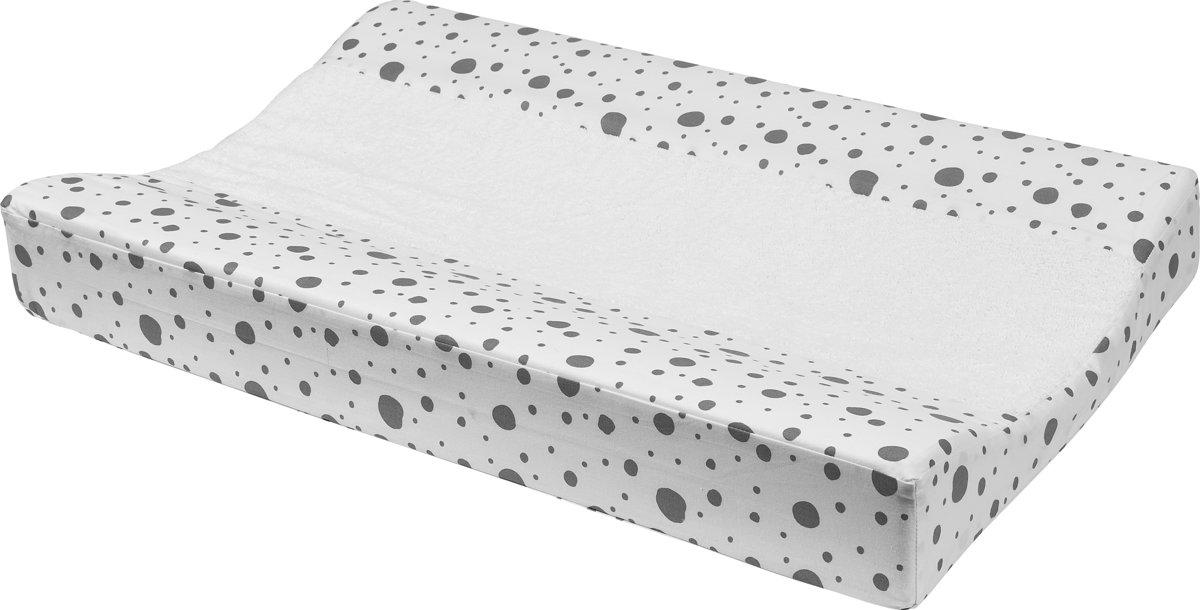 Meyco aankleedkussenhoes met badstof - Dots grijs