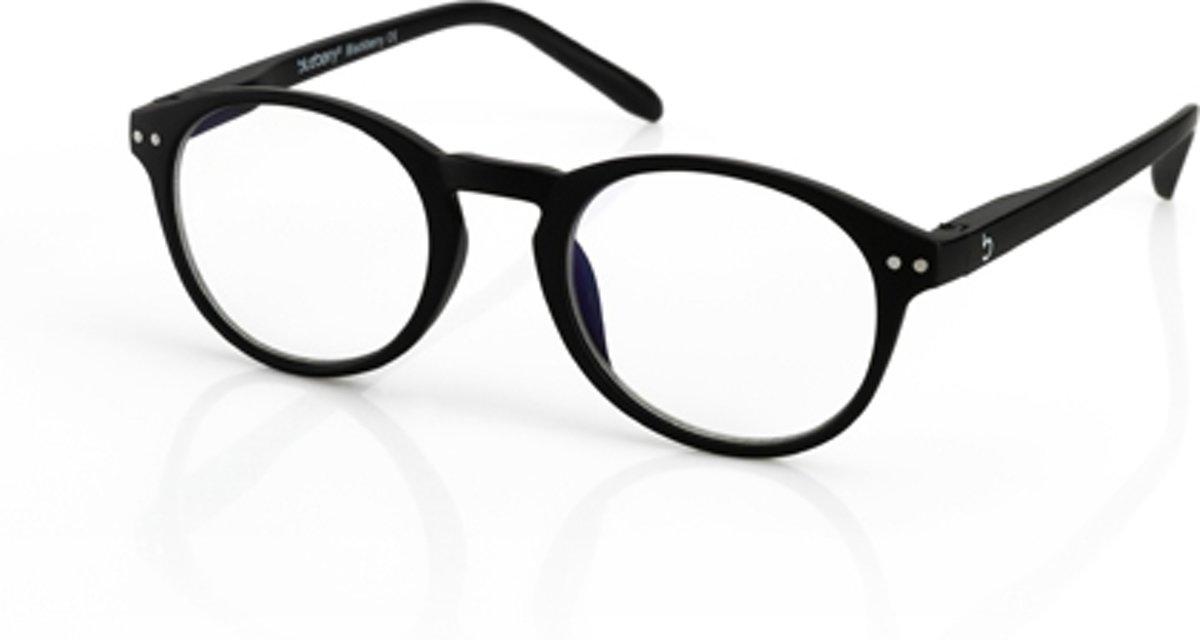 Foto van Blueberry Glasses Leesbril Retro zwart +2.0