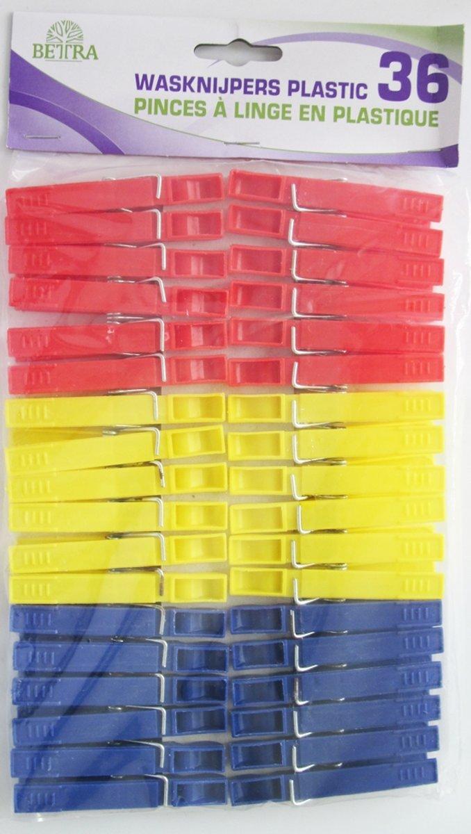 Betra Wasknijpers - Plastic 36 stuks kopen