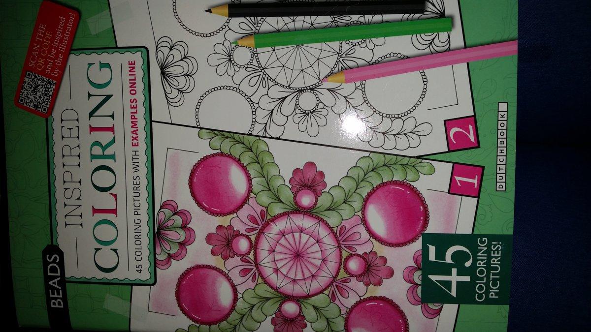 Kleurboek volwassenen - inspired coloring - 45 pictures.