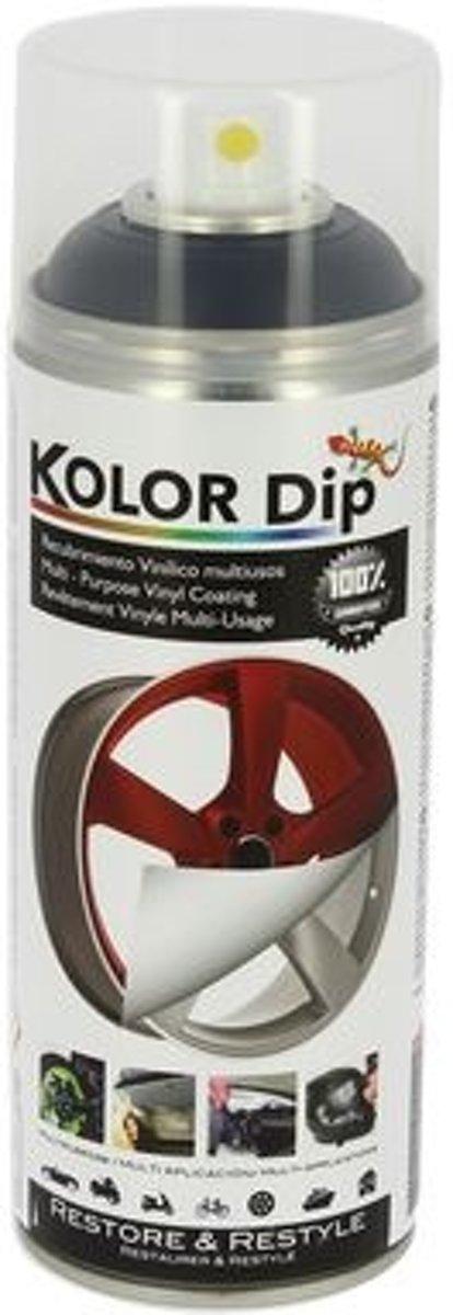 Kolor Dip Spuitfolie Metallic Zwart 400 Ml