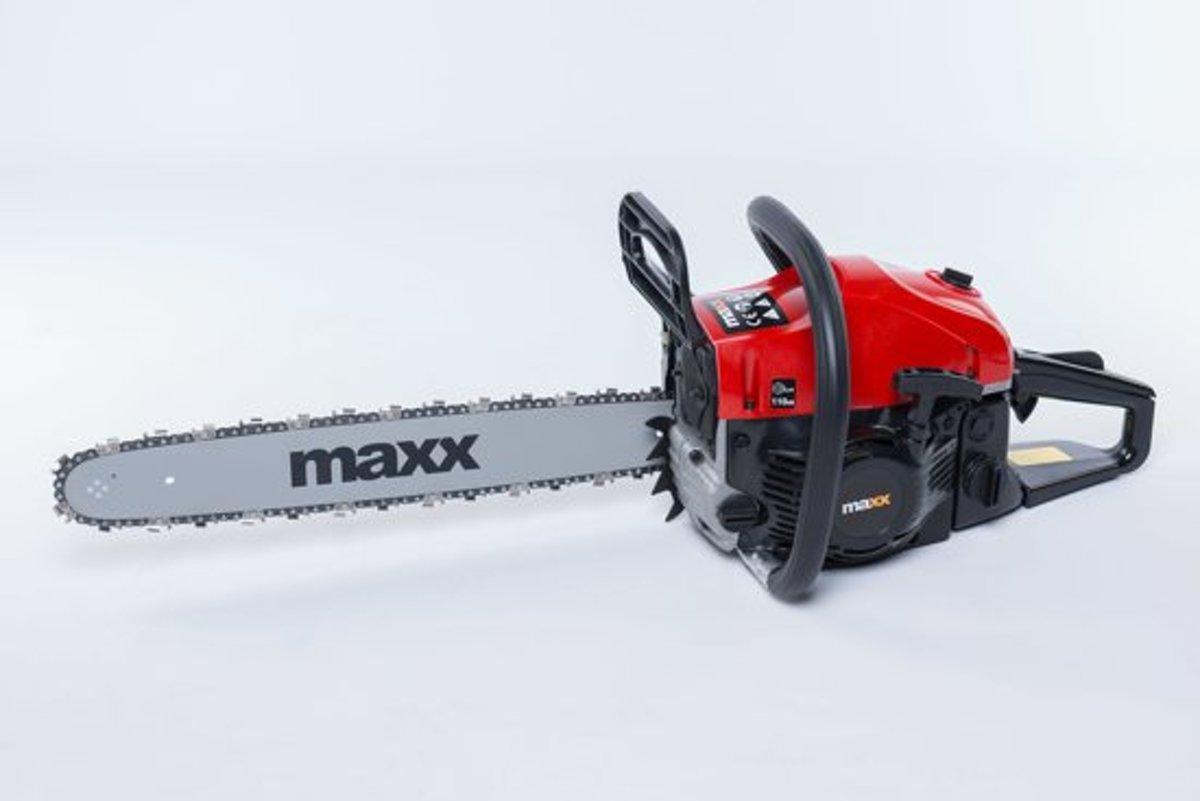 Maxx 52cc Kettingzaag - benzine - 2 takt - zaagblad 45 cm