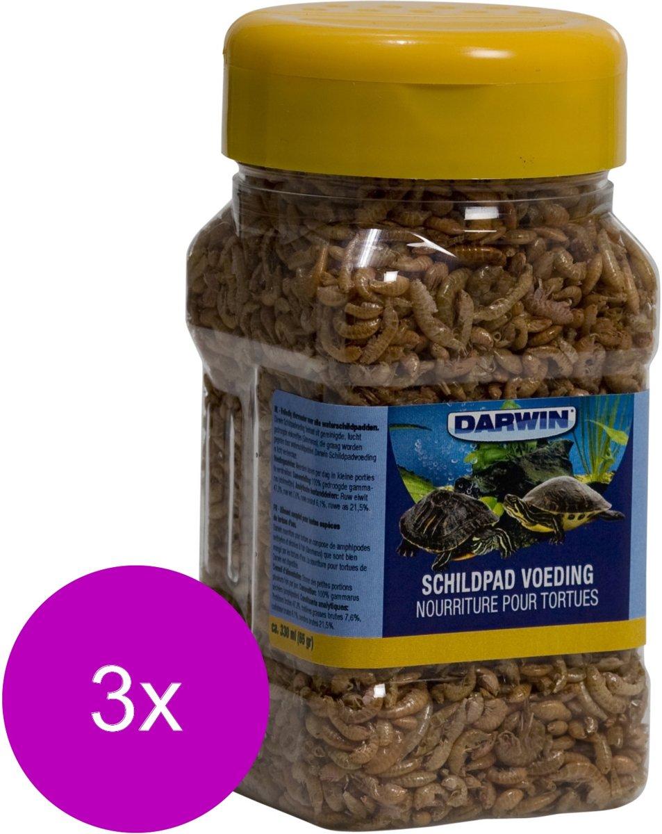 Darwin Schildpad Voeding - Voer - 3 x 1 l