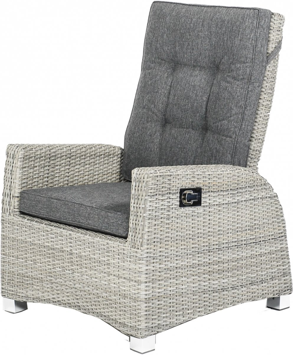 barcelona relax lounge chair met kussen weathered grey met gasveer kopen