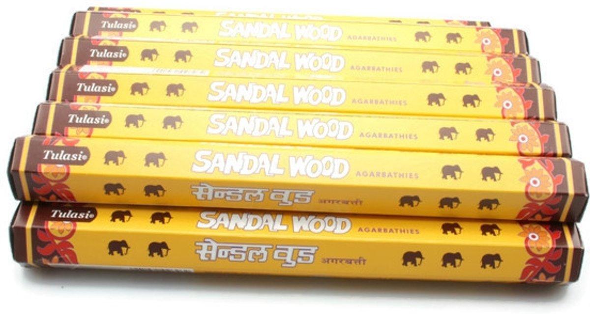 Foto van Sandalwood wierook 6 pakjes , 20 stokjes per pakje