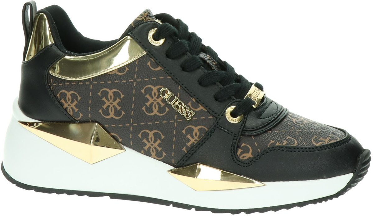 Guess Tallyn dames sneaker Zwart bruin Maat 36