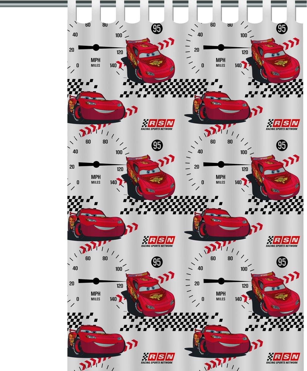 bolcom cars gordijn wit 140x250 cm