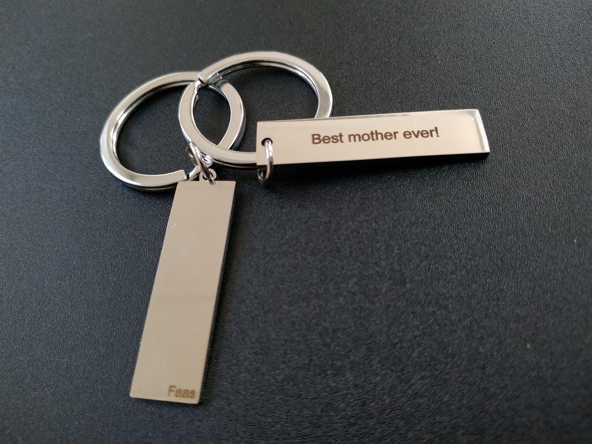 Sleutelhanger Best Mother Ever Moeder Moederdag Cadeau Zilverkleurig Rvs