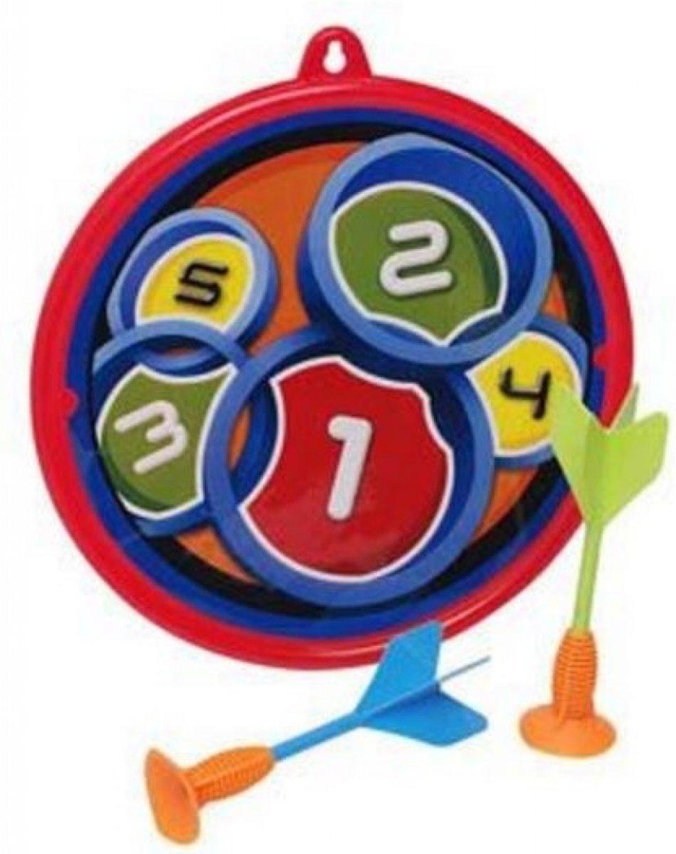 Eddy Toys Dart Game Met Pijlen Rood/blauw kopen