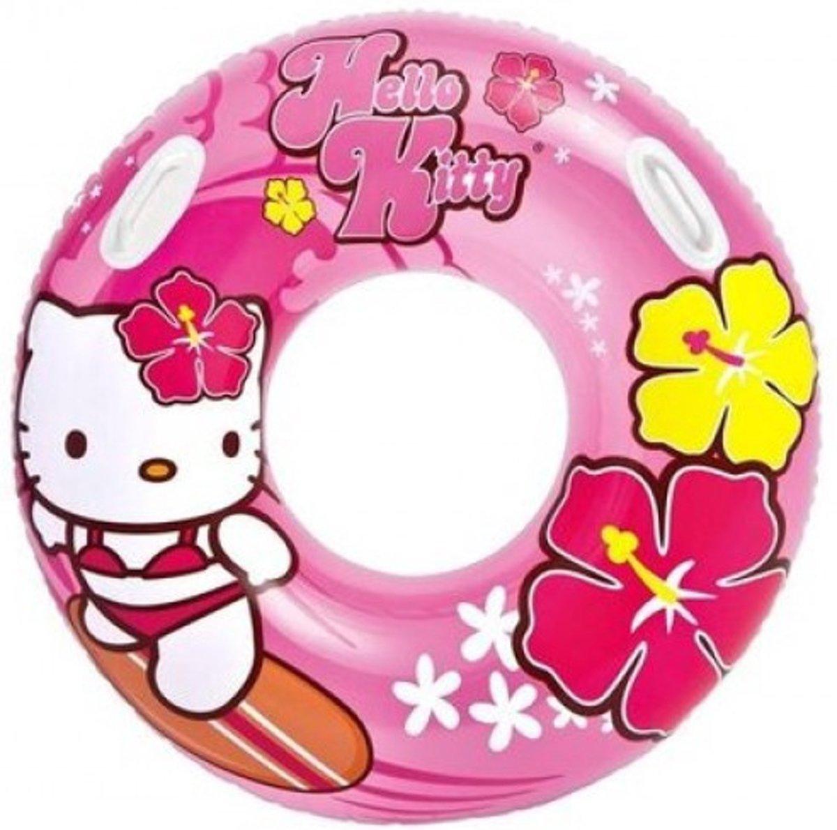 2 stuks Zwemband Hello Kitty - 97cm   Zwemring Intex 58269NP