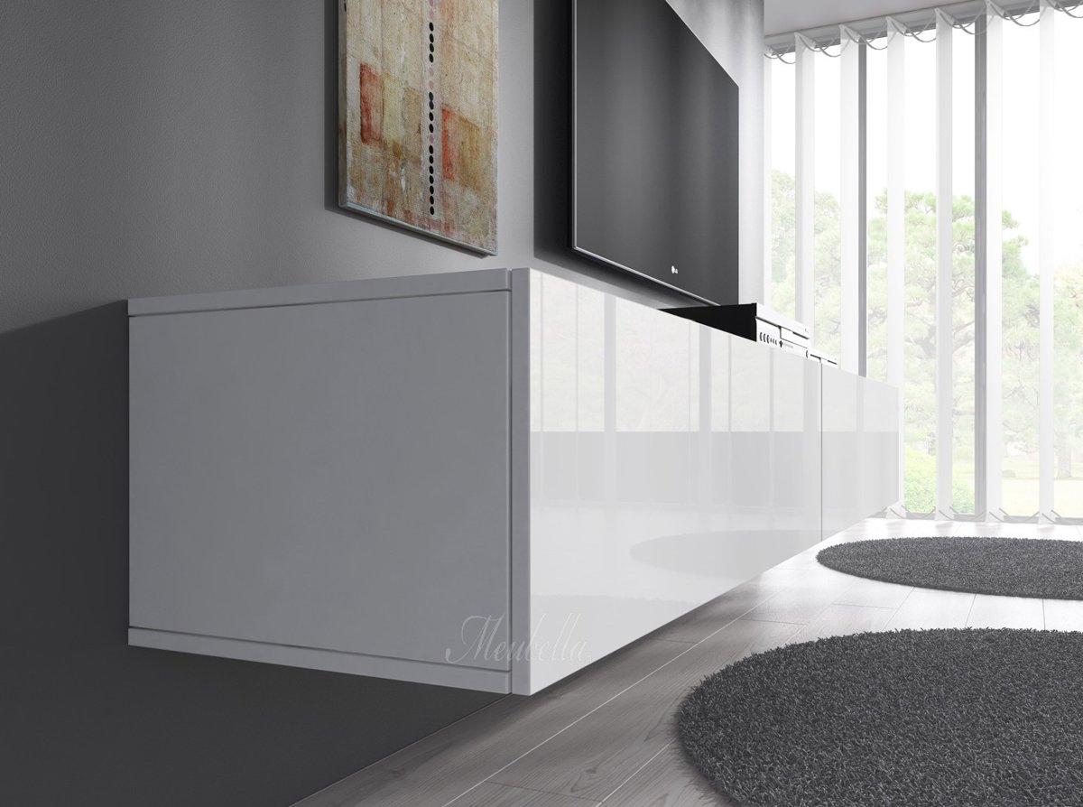 Hoogglans Meubels Beschadigd : Bol.com meubella tv meubel flame wit 160 cm