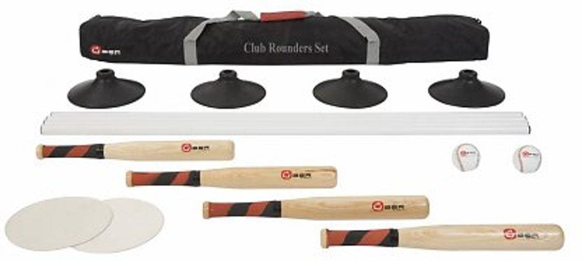 Club Rounders Set / Engels Slagbal - Voor een heel team, in handige transporttas kopen