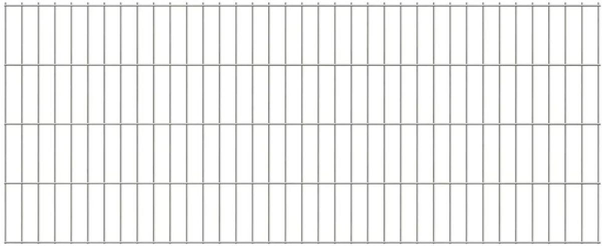 vidaXL Dubbelstaafmat 2008 x 830 mm 14 m zilver 7 stuks