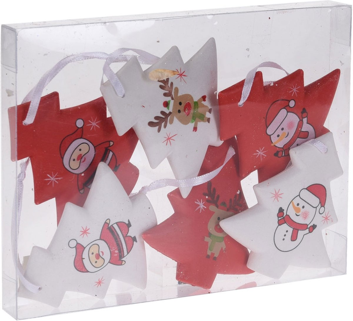 Houten Kersthangers, 6st. kopen