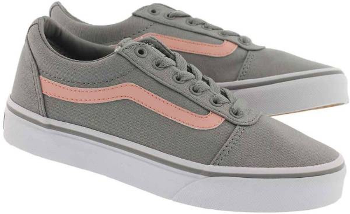 1ba8ea9faee bol.com   Vans Ward Sneakers Kids Meisjes - maat 35 - (Canvas) Gray/Pink