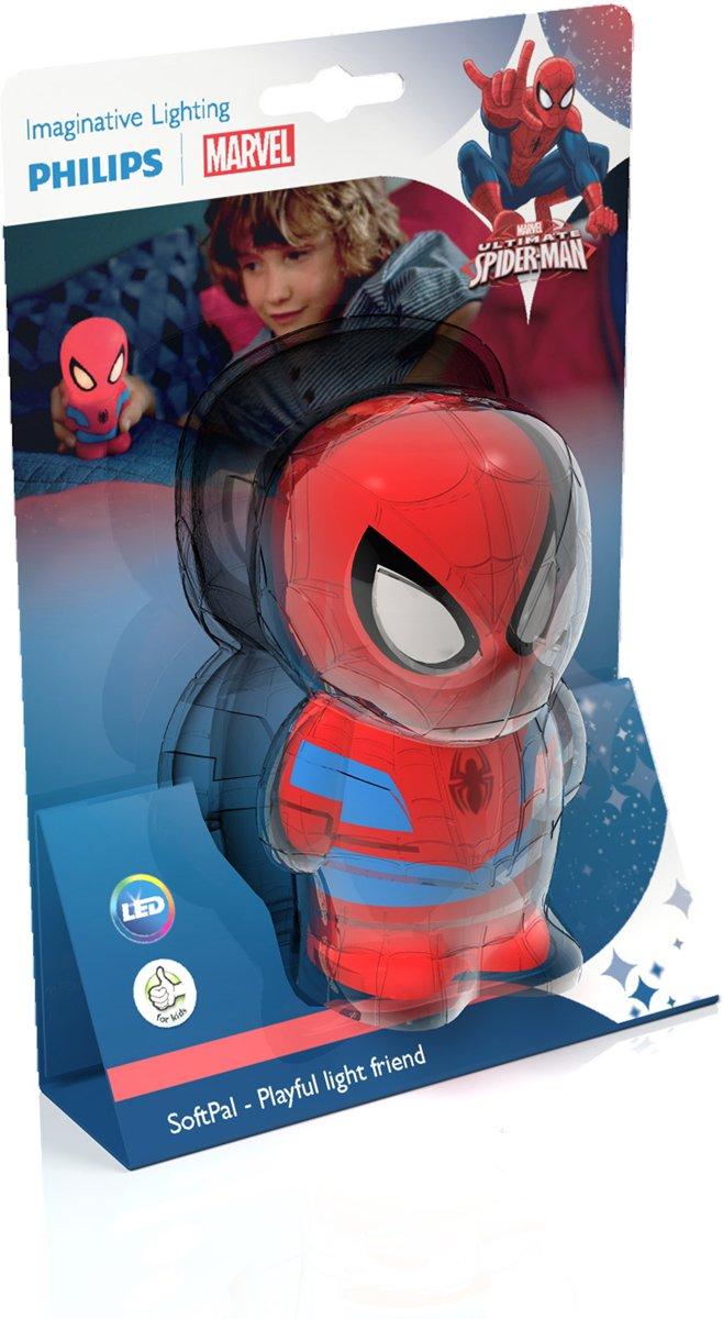 bol.com | Philips Disney SoftPal SpiderMan - Nachtlampje - LED - Blauw