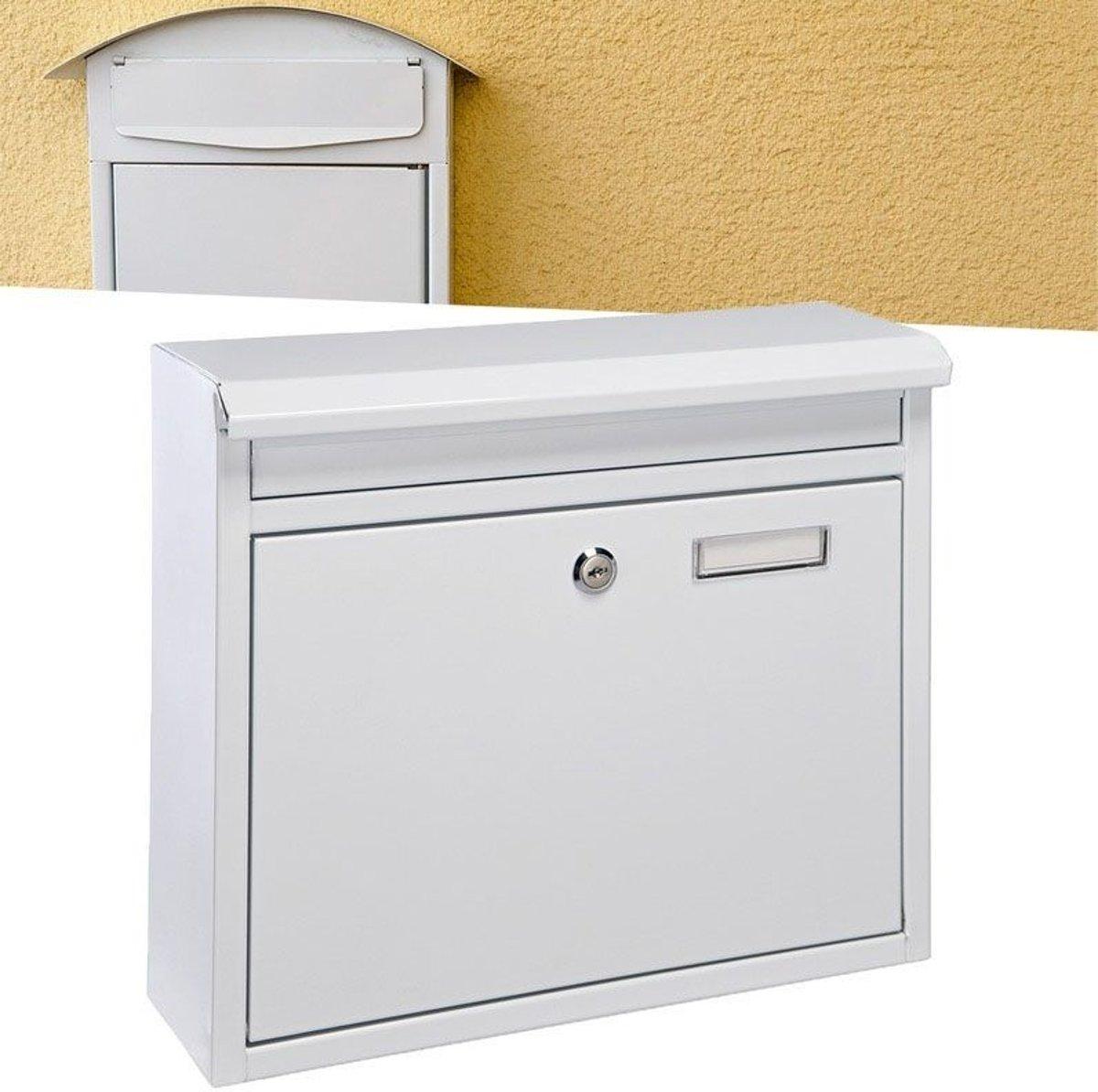 Metalen brievenbus Wit