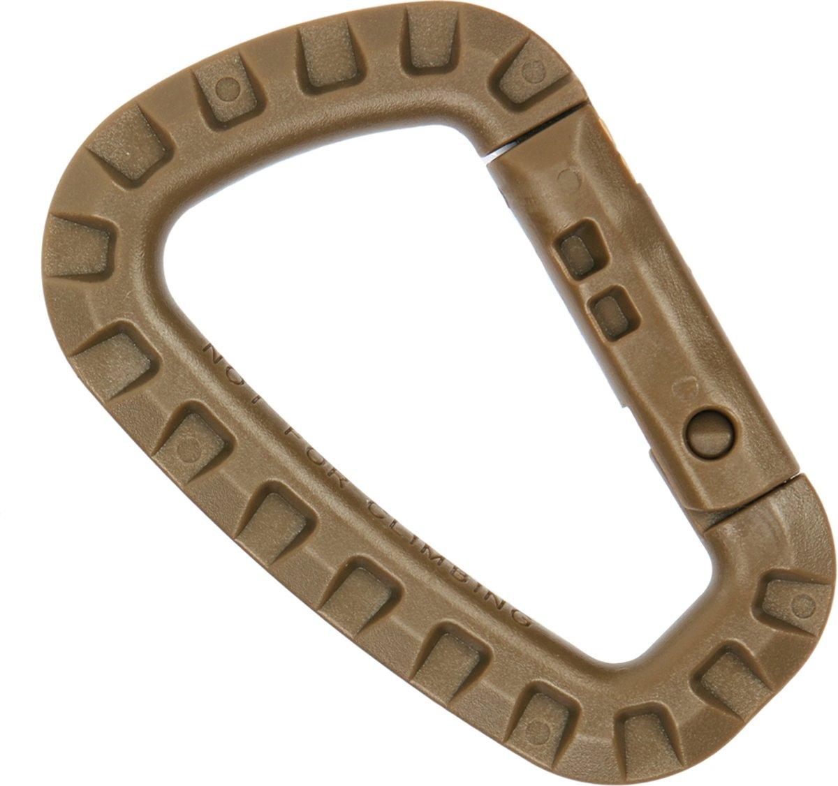 Karabijnhaak PVC Bruin